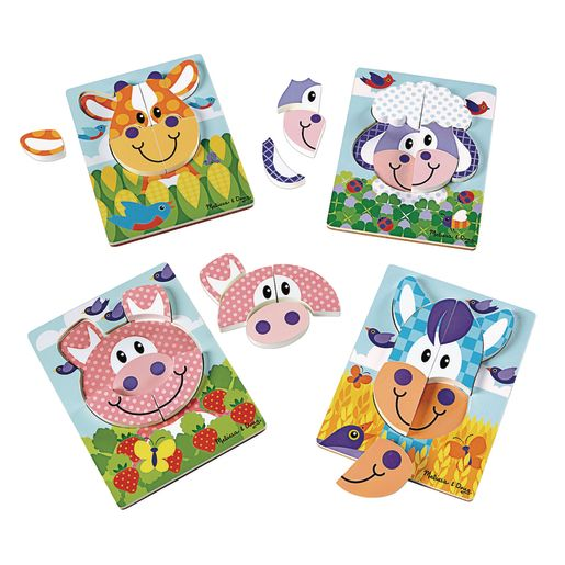 Image of First Play Jigsaw Puzzle Set of 4- Farm