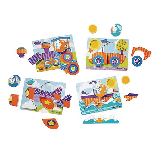 Image of First Play Jigsaw Puzzle Set of 4- Vehicles