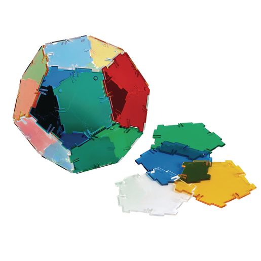 Crystal Polydron 24 Pentagons Set