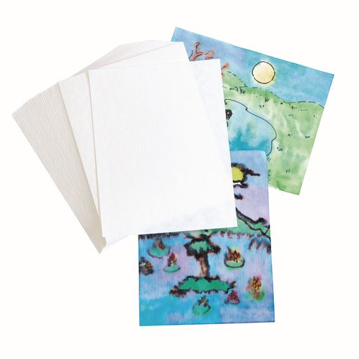 Image of Blot Diffusing Watercolor Paper, set of 40paper sheets