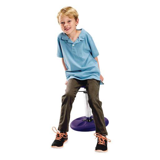 """Adjustable Wobble Stool, 14""""-19""""H - Purple"""