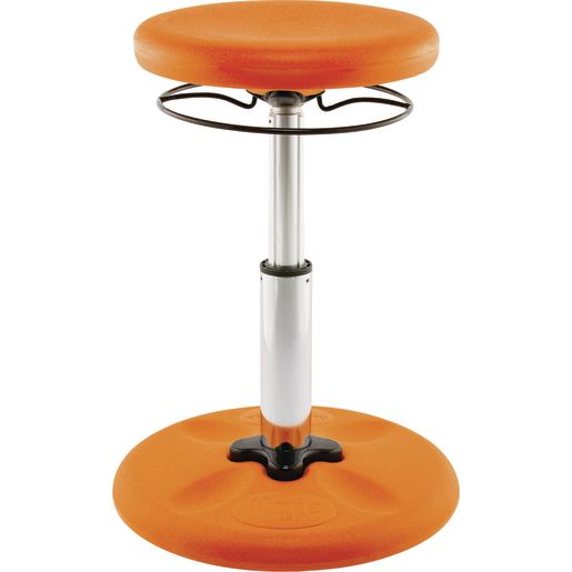 "Adjustable Wobble Stool, 14""-19""H - Orange"