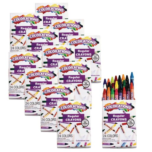 Colorations® Regular Crayons, Set of 24 Colors, 12 Packs_0