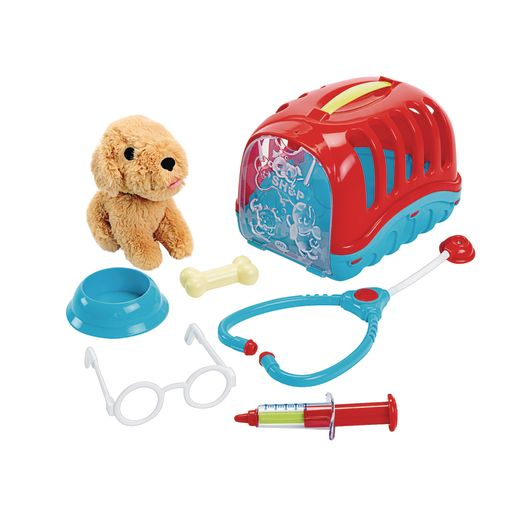 Pretend Vet with Puppy and Carrier - 7 Pieces_0