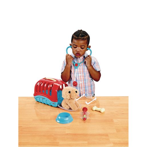 Pretend Vet with Puppy and Carrier - 7 Pieces_2