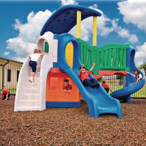 """""""All In"""" Clever Climber™ - Natural, Surface Mount with Anchor Bolts"""