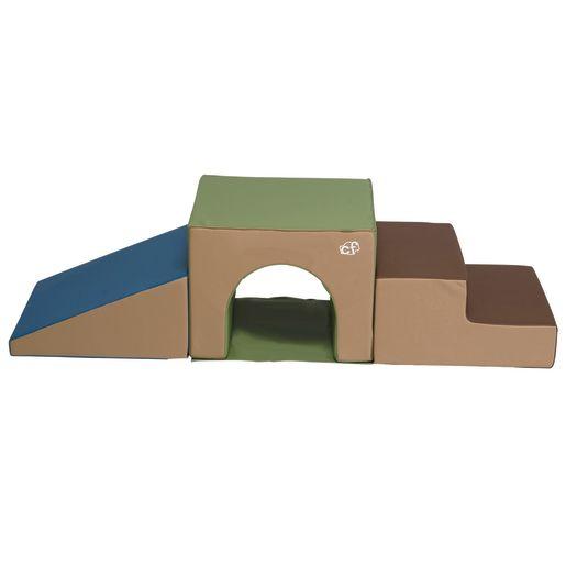 Soft Tunnel Climber, 3pc set - Woodland Colors
