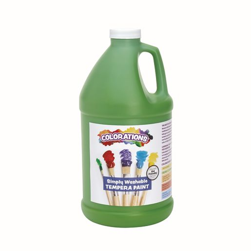 Image of Colorations 1/2 Gallon Apple Green Simply Washable Tempera Paint