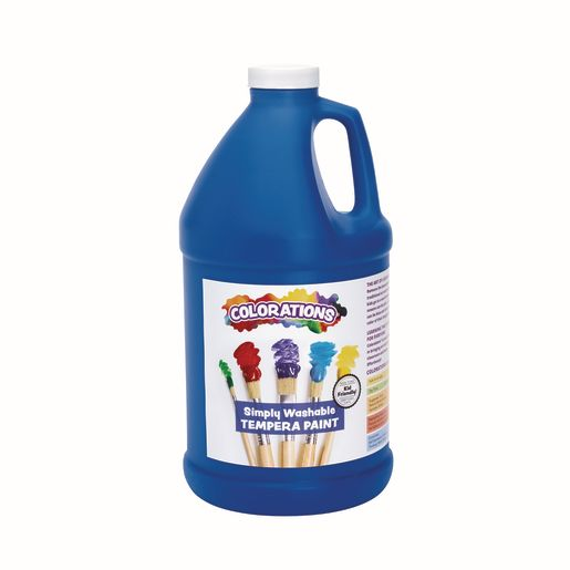 Image of Colorations 1/2 Gallon Blue Simply Washable Tempera Paint