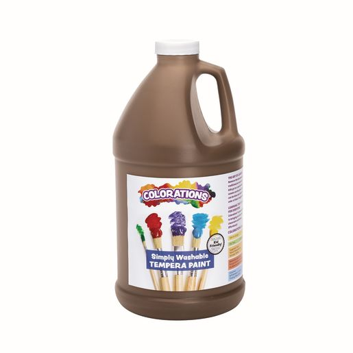 Image of Colorations 1/2 Gallon Brown Simply Washable Tempera Paint