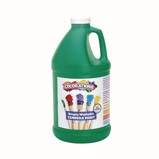 Image of Colorations 1/2 Gallon Green Simply Washable Tempera Paint