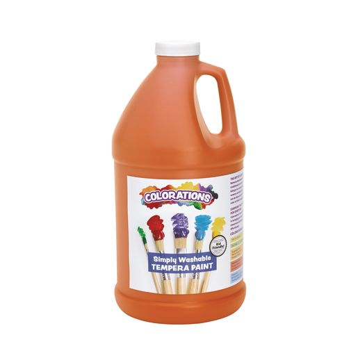 Image of Colorations 1/2 Gallon Orange Simply Washable Tempera Paint