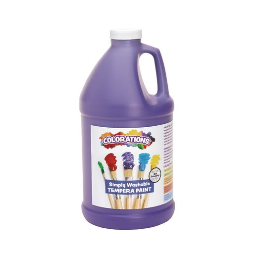 Image of Colorations 1/2 Gallon Purple Simply Washable Tempera Paint