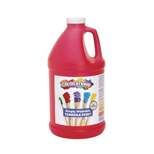 Image of Colorations 1/2 Gallon Red Simply Washable Tempera Paint