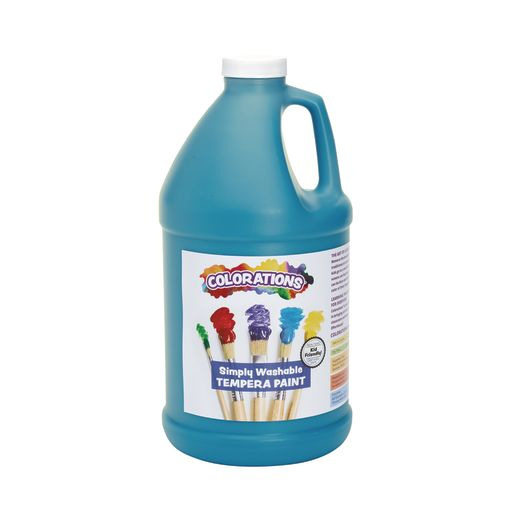 Image of Colorations 1/2 Gallon Turquoise Simply Washable Tempera Paint