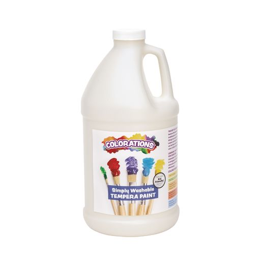 Image of Colorations 1/2 Gallon White Simply Washable Tempera Paint