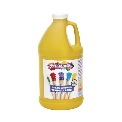Image of Colorations 1/2 Gallon Yellow Simply Washable Tempera Paint