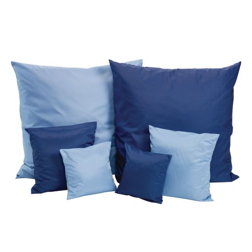Two-Tone Pillows, Set of 6 - Blue/Light Blue
