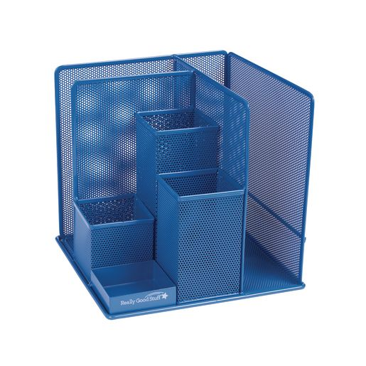 Image of Desktop Mesh Organizer Blue