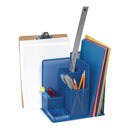Desktop Mesh Organizer Blue