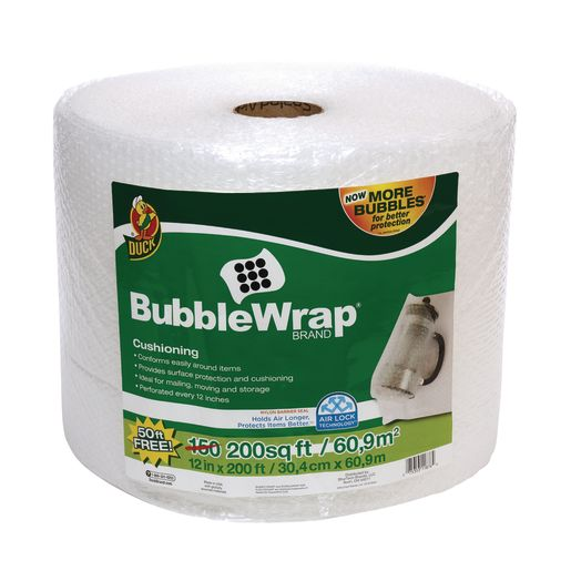 Image of Bubble Wrap - Clear, 12 x 150'