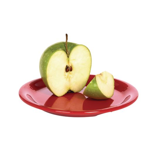 "Melamine 6-1/2"" Plate Red"