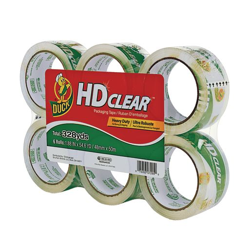 Image of Clear Heavy Duty Packing Tape 6 pk