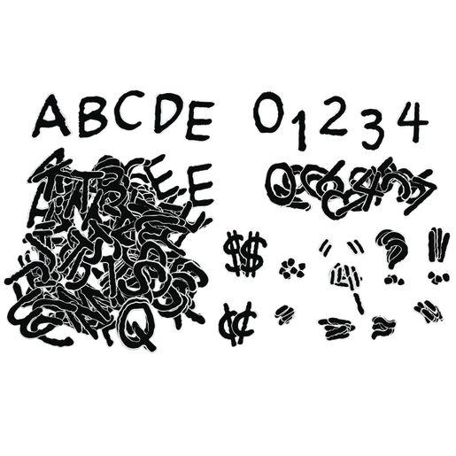 Peanuts Deco Letters - Black