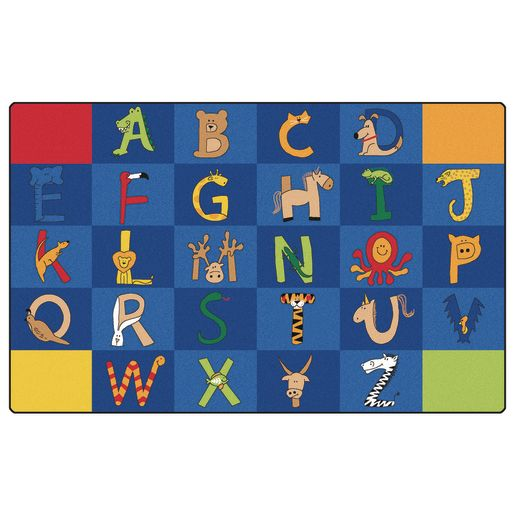 "A to Z Animals 8'4"" x 13'4"" Rectangle Premium Carpet"