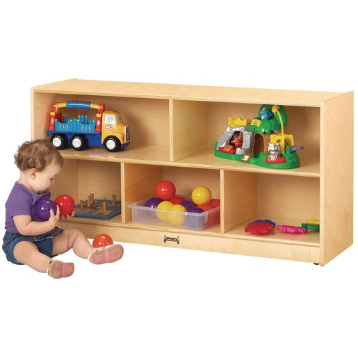 Toddler Divided Shelf Mobile Storage - Magnetic Dry-Erase Back