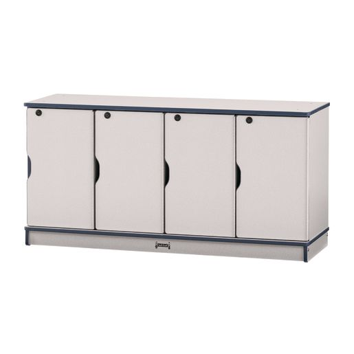 Stacking Lockers 1 Level Unit with Yellow Edging