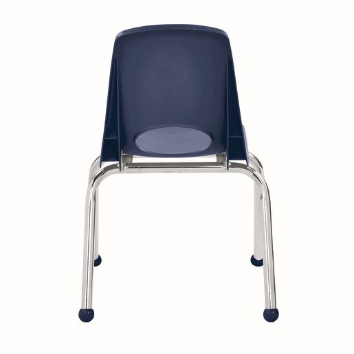 """14"""" Stack Chair with Ball Glides - Navy, Set of 6"""