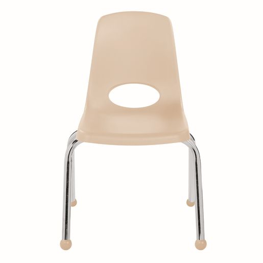 "14"" Stack Chair with Ball Glides - Sand, Set of 6"