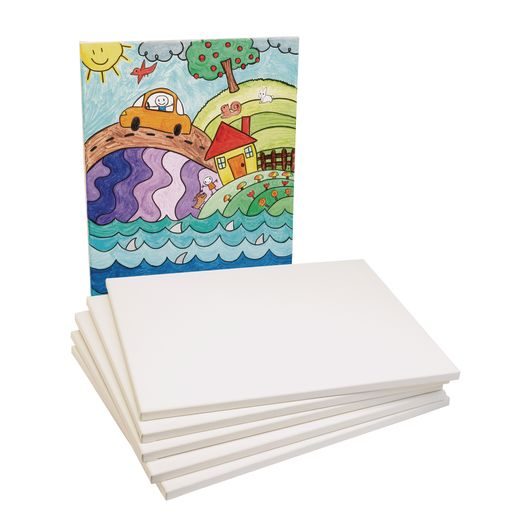 Colorations® Real Stretched Canvas Extra Large - Set of 6, 16