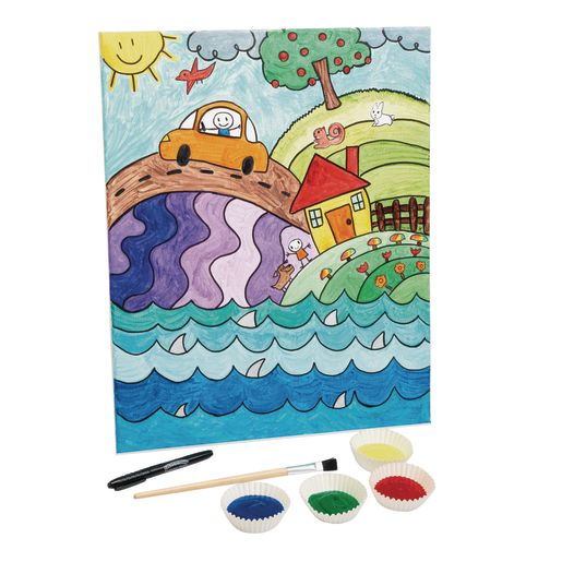 """Colorations® Real Stretched Canvas Extra Large - Set of 6, 16"""" x 20"""""""