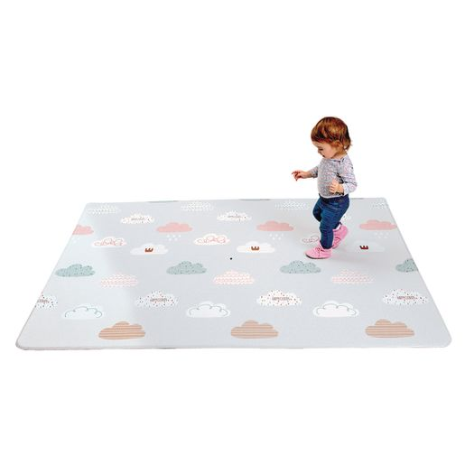 Reversible Soft Play Mat, Medium - Cloud/Blue Spot