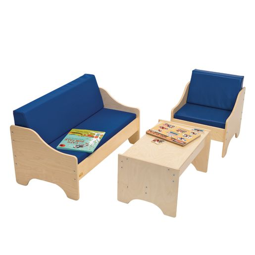 Birch Living Room Set - Blue