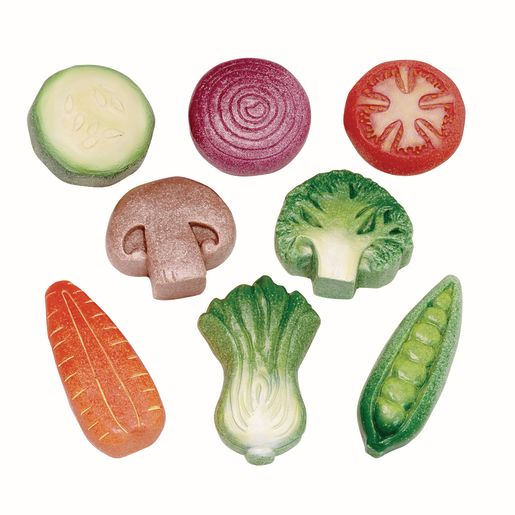 Image of Sensory Outdoor Play Stones- Vegetables Set of 8