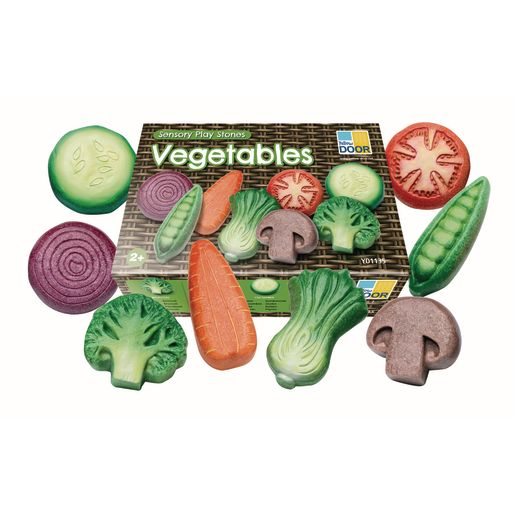 Sensory Outdoor Play Stones- Vegetables Set of 8