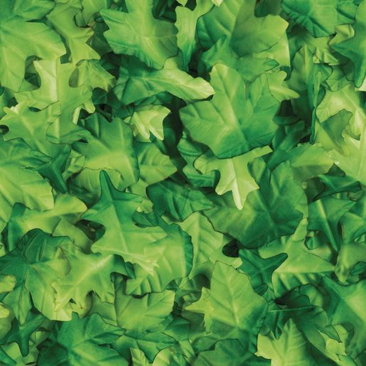 Image of Colorations Fabric Green Leaves - set of 200