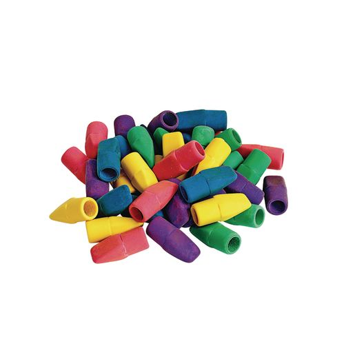 Image of Assorted Color Cap Erasers - 40 Count