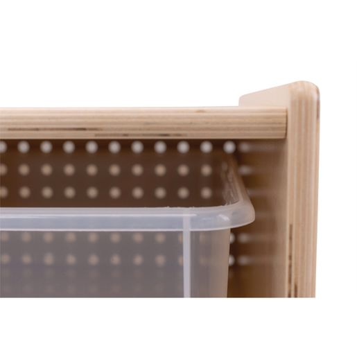 9-Tray Storage Cabinet with Clear Trays