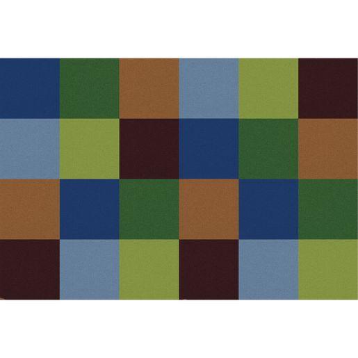Rainbow Mosaic - Woodtones, 8' x 12' Rectangle