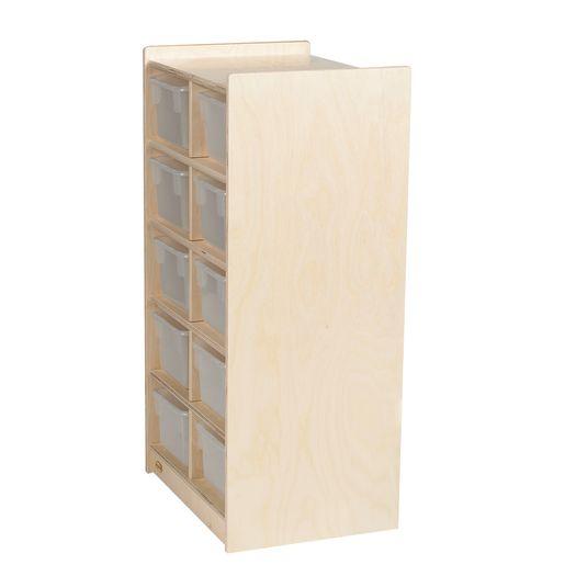 Slim 10-Tray Storage with Clear Trays