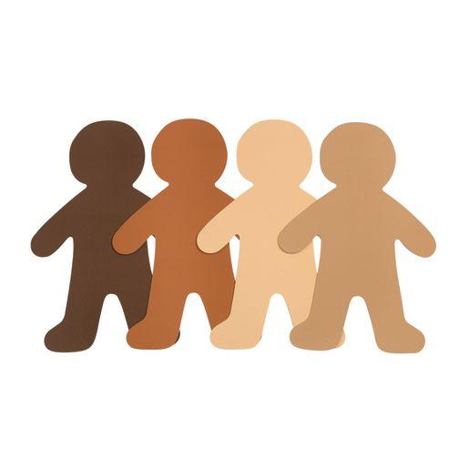 Multicultural Big People Shapes - Set of 24