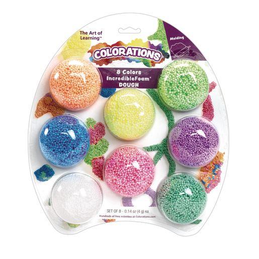 Colorations Foam Doughs & Colors - 8 Colors