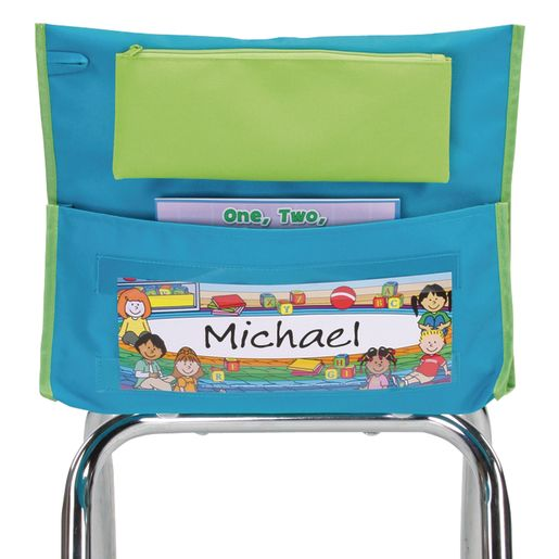 Store More® Deluxe Chair Pockets, Early Childhood- Teal, Set Of 6