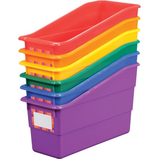Group Colors For 6 - Durable, Colorful Book Bins