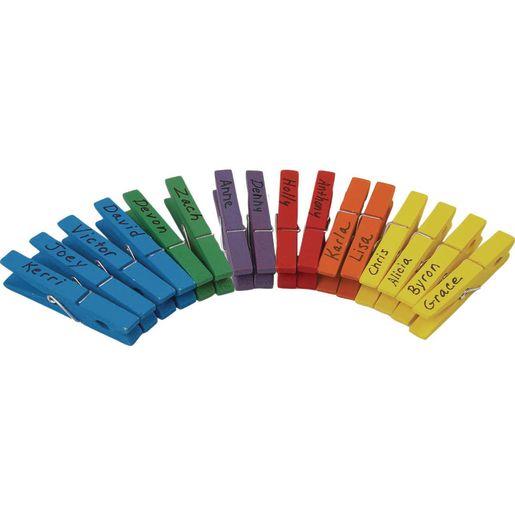 Classroom Management Rainbow Clothespins - 6 Colors