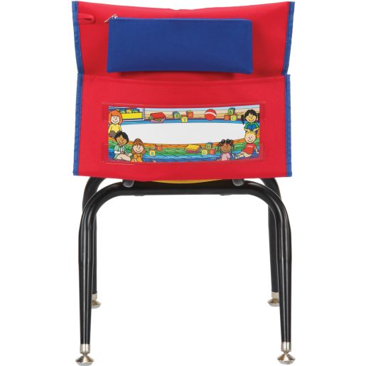 Store More® Deluxe Chair Pockets , Early Childhood - Red, Set of 6